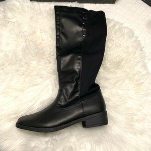 2364fd3c3b9 Sociology Shoes - Sociology Fling Stretch Knee High Boots - Black-